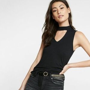 EXPRESS Ribbed Top with V Chocker